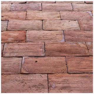 19th Century French Rose Terra Cotta Flooring For Sale