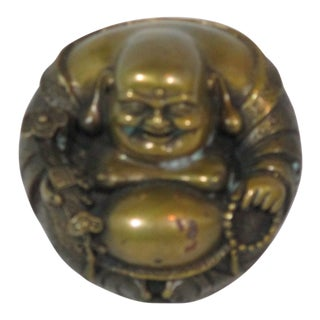 Vintage Chinese Brass Laughing Buddha For Sale