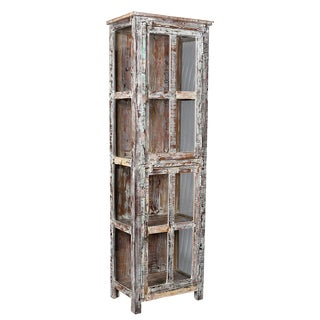 Rustic Wood Display Cabinet