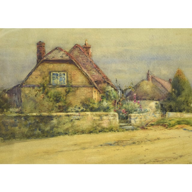 Cottage Early 20th Century Antique Alexander MacBride British Village Watercolor Painting For Sale - Image 3 of 10