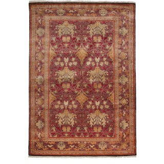 """Arts & Crafts Hand Knotted Area Rug - 6'0"""" X 8'9"""" For Sale"""