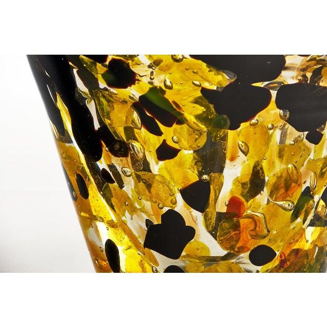 "Contemporary Murano Glass ""Pollock"" Vase For Sale - Image 9 of 12"