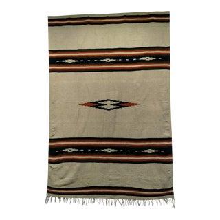 Vintage Southwestern Kilim Blanket - 4′7″ × 7′ For Sale