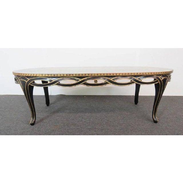 Hollywood Regency Regency Style Églomisé Coffee Table For Sale - Image 3 of 8