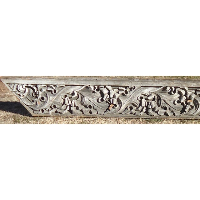 Acanthus Leaf Carved Wood Pediment - Image 3 of 11