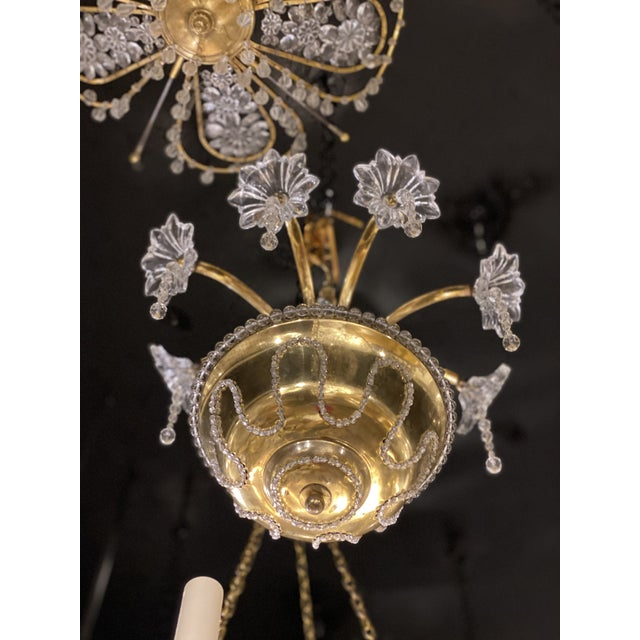 1930s French Bagues Chandelier For Sale - Image 10 of 11