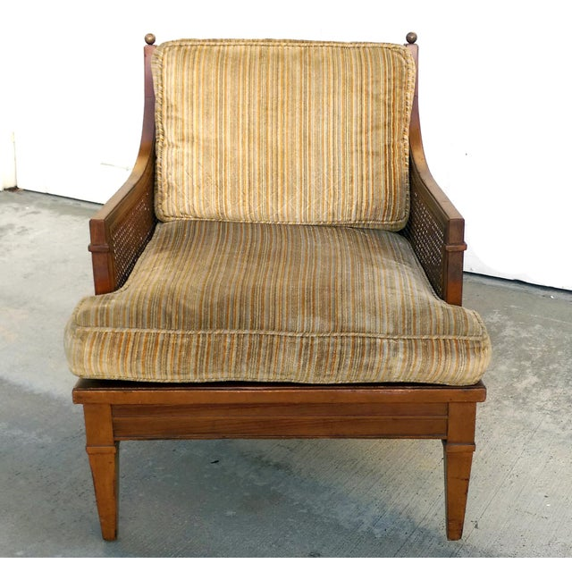 Vintage Mid Century Cane Back Lounge Chair - Image 3 of 8