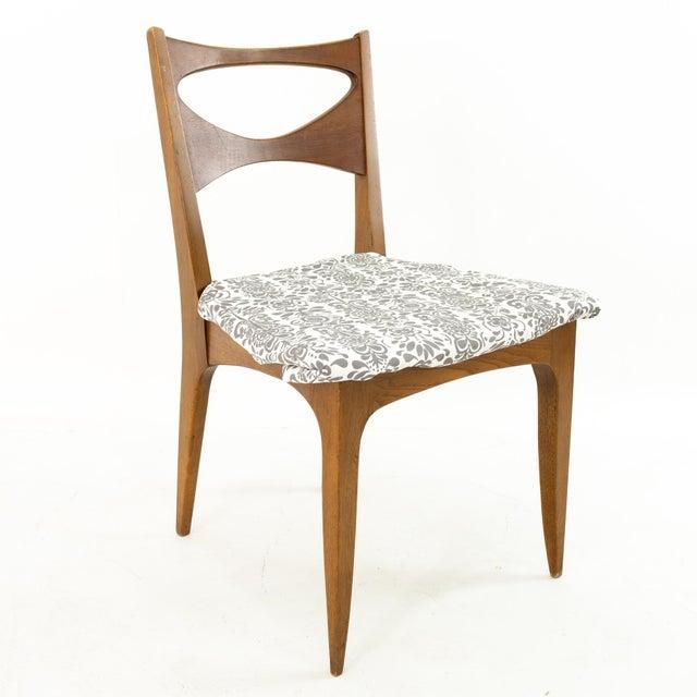 Drexel John Van Koert for Drexel Profile Mid Century Walnut Dining Chairs - Set of 4 For Sale - Image 4 of 13