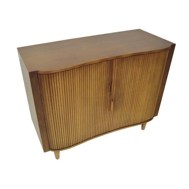 Dunbar Furniture 1950s Dunbar Mister Chest With Tambour Doors by Edward Wormley For Sale - Image 4 of 10