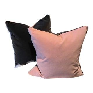 Gray & Blush Designers Guild Varese Cameo Decorative Pillows - A Pair