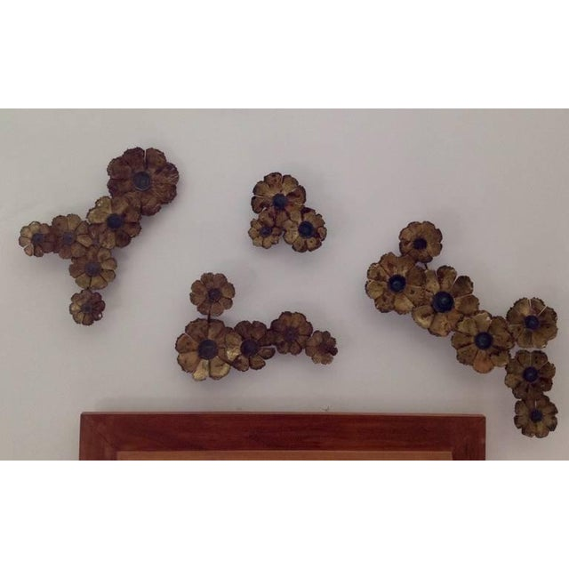 Curtis Jere Brutal Style Floral Wall Sculpture Grouping For Sale - Image 4 of 5