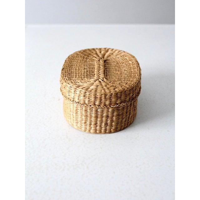 Vintage Sweetgrass Basket For Sale - Image 4 of 9