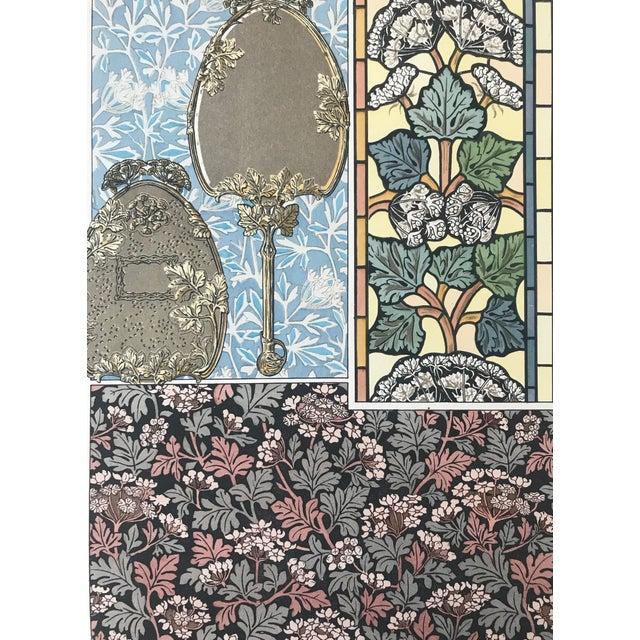 Art Nouveau 1896 French Decorator Pochoir, Art Nouveau Botanical Print, Parsley (Plate 23) For Sale - Image 3 of 4