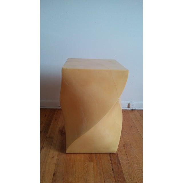 Mid-Century Modern Modern Goatskin Twist Pedestal Table For Sale - Image 3 of 8