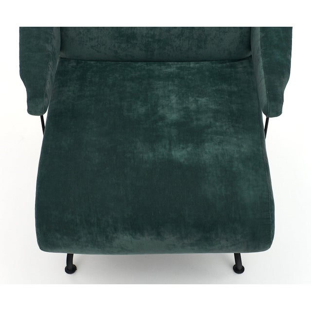 Turquoise Italian Pair of Armchairs by Carlo DI Carli For Sale - Image 8 of 11