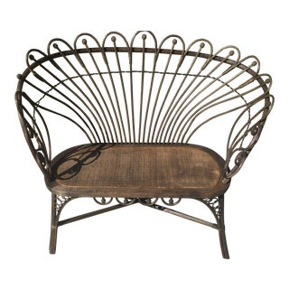Antique Victorian Wicker Loveseat For Sale