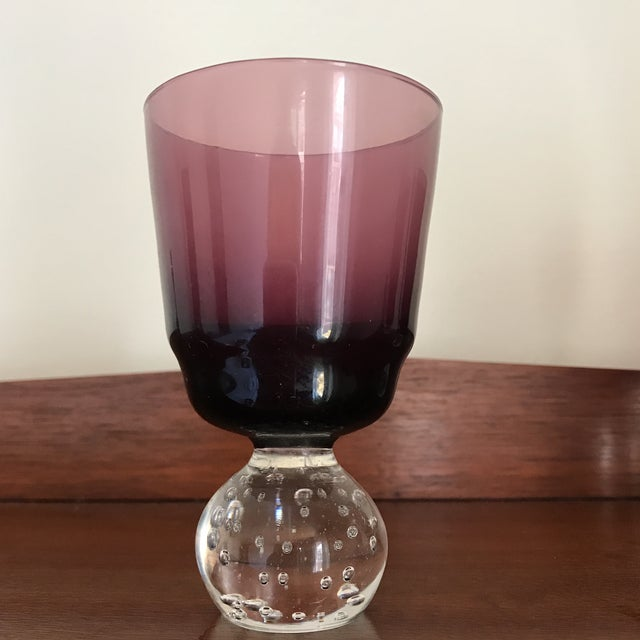 Mid-Century Modern Carl Erickson Amethyst Goblets - Set of 4 For Sale - Image 4 of 9