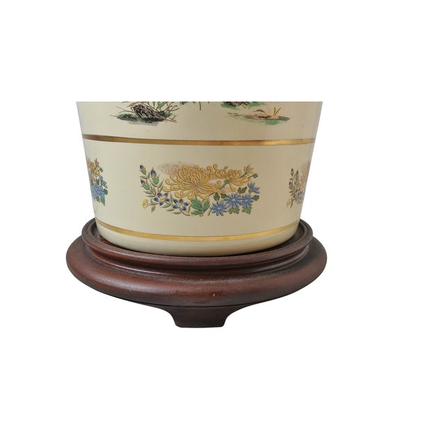 Japanese Style Porcelain Table Lamp - Image 3 of 5