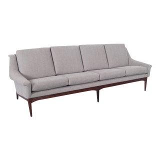 1950s Danish Modern Teak Sofa For Sale