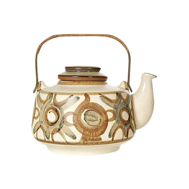 Søholm Denmark Hand-Painted Teapot For Sale