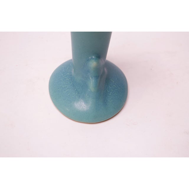 """Van Briggle Calla Lily Vase in """"Ming"""" Blue For Sale - Image 9 of 12"""