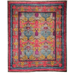 """Arts & Crafts, Hand Knotted Area Rug - 8' 1"""" x 9' 7"""" For Sale"""