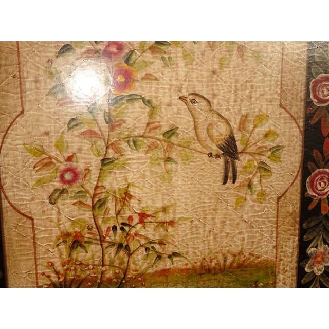Vintage French Country Maitland Smith Style Wall Panels Floral Pictures For Sale - Image 10 of 12