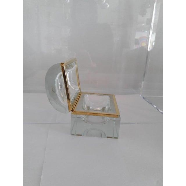 Glass Vintage Murano Glass Box- Mandruzzato For Sale - Image 7 of 11