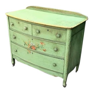 1920s Floral Chest of Drawers For Sale