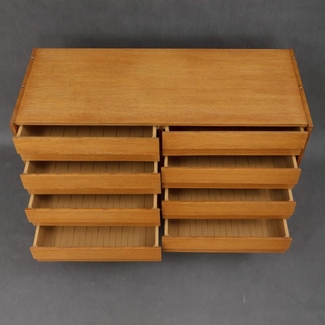 1960s 1960s Mid-Century Modern Jiri Jiroutek for Interier Praha 8-Drawers Oak Chest For Sale - Image 5 of 9