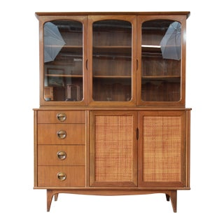 Mid-Century Modern Woven Front Dining Cabinet by Landstrom For Sale