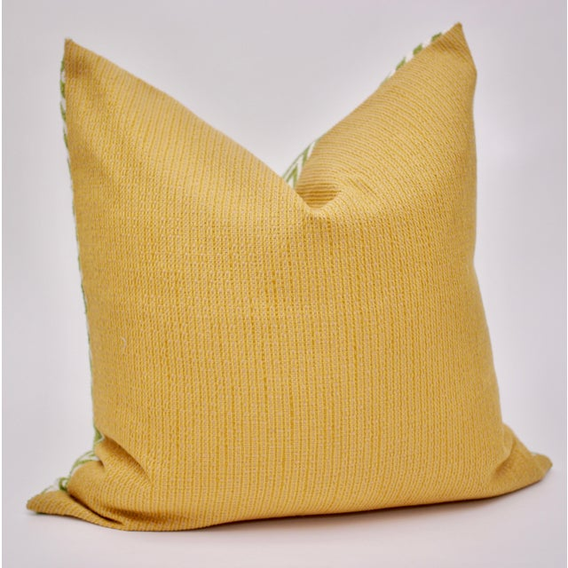 Mid-Century Modern Bassett McNab Company Washed Chenille and Boucle Square Pillow For Sale - Image 3 of 6