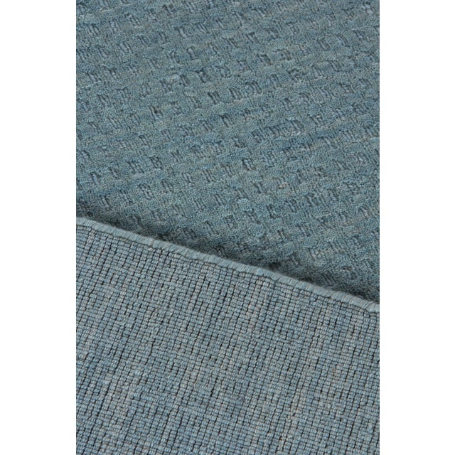 Textile Exquisite Rugs Worcester Handwoven Wool Denim Blue - 6'x9' For Sale - Image 7 of 8