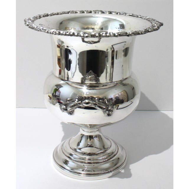 Vintage Sheridan Champagne Ic Bucket Silver Plate For Sale - Image 4 of 12