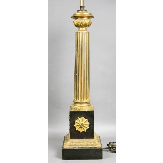 Early 19th Century French Empire Patinated and Gilt Bronze Table Lamp For Sale - Image 5 of 8