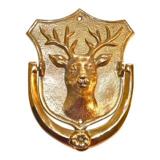Stag Brass Door Knocker