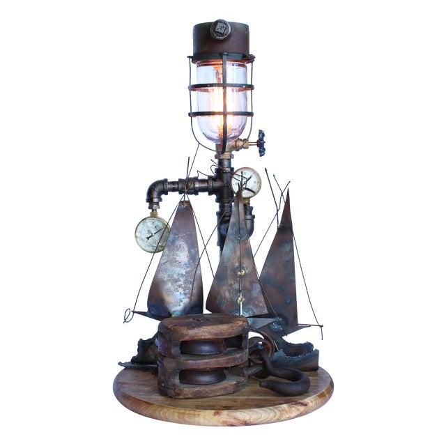 Vintage Nautical Lamp - Image 1 of 7