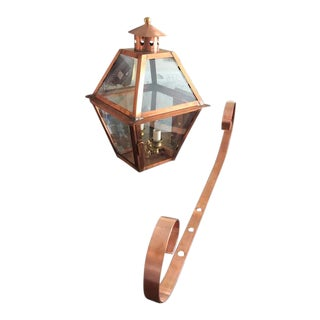 Carolina Outdoor Copper Wall Lantern For Sale