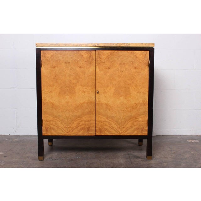 Hollywood Regency Rare Olive Burl Cabinet by Edward Wormley for Dunbar For Sale - Image 3 of 10