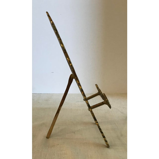 Decorative Brass Easel For Sale - Image 4 of 5