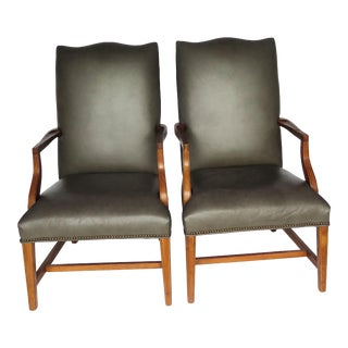 1970s Vintage Library Chairs- a Pair For Sale