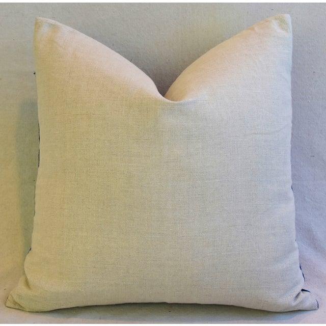 Indigo Blue & White Mali Tribal Feather/Down Pillow - Image 7 of 8