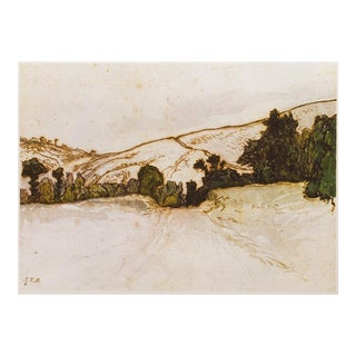 1959 American Classical Lithograph of Hill Landscape by Jean-François Millet For Sale