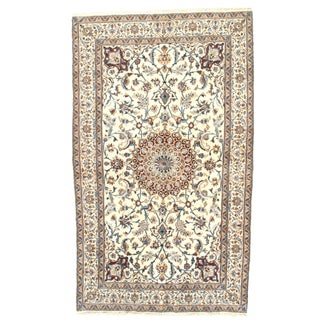 Vintage Genuine Nain Area Rug - 4′11″ × 8′3″ For Sale