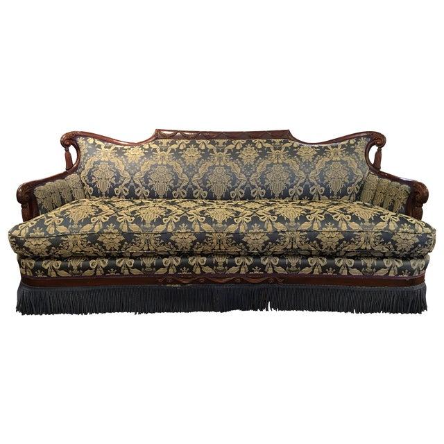 Vintage Victorian Fringe Sofa - Image 1 of 11