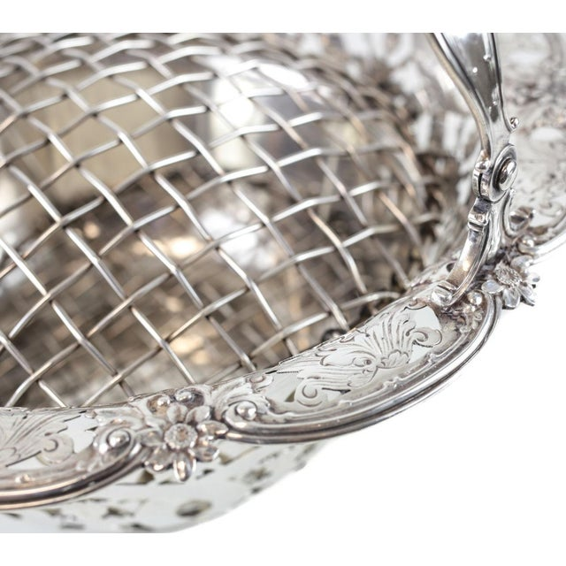 Tiffany & Co Makers Sterling Silver Flower Basket #16201, John C. Moore For Sale In Los Angeles - Image 6 of 8