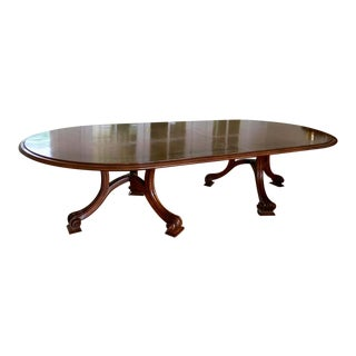 Therien Studio Workshops Usa Mahogany Banquet Dining Table For Sale