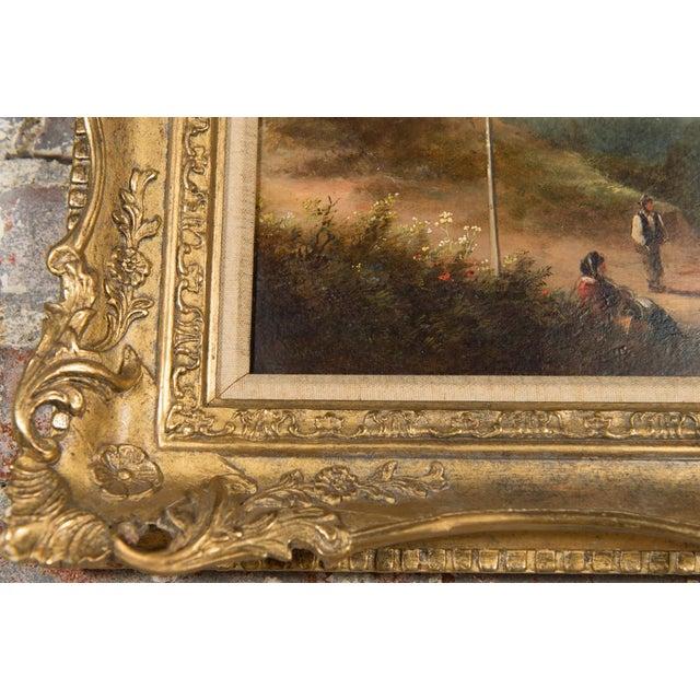 Canvas 19th-C. Sussex Landscape by E. J. Niemann For Sale - Image 7 of 10