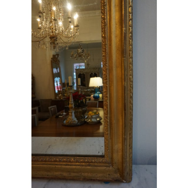 19th Century Louis XV Trumeau Mirror For Sale In New Orleans - Image 6 of 8
