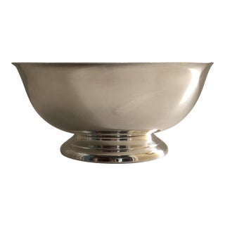 1980s Silver-Plated Revere Bowl For Sale